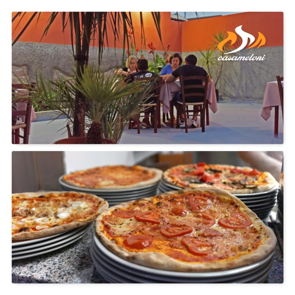 Assapora una pizza deliziosa mentre ti godi il fresco nel nostro cortile   CasaMeloni Pizzeria e Barbecue a Villasimius